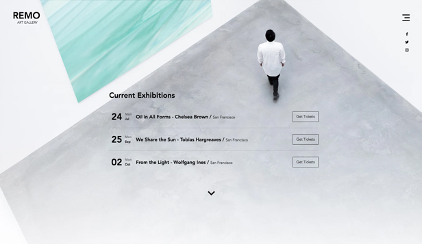 Visuelle Kunst website templates – Galerie