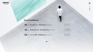 Events website templates - Art Gallery