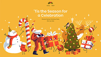 Religion website templates - Christmas Party