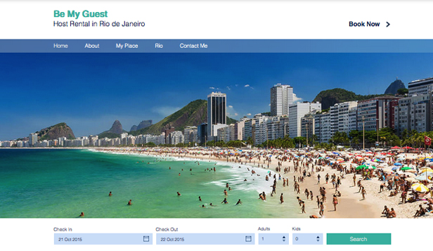 Reisen & Tourismus website templates – Ferienapartment in Rio