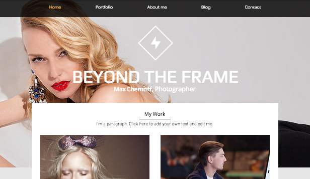 Mode website templates – Mode-Fotostudio