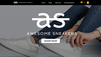 Jewelry & Accessories website templates - Shoe Store