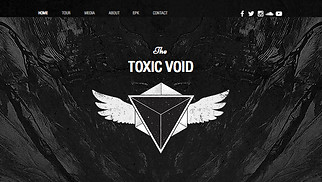 Music website templates - Rock Music