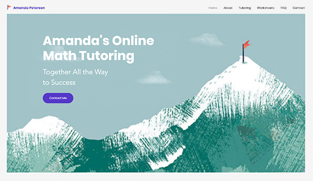 Utdanning website templates – Privatlærer