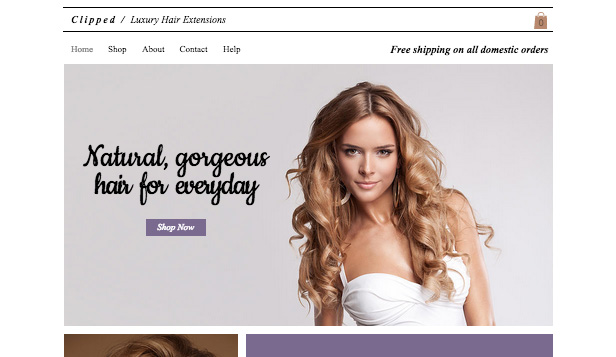 Schoonheid en kapsels website templates – Luxe-hairextensions