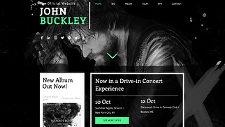 Music website templates - Alternative Rock