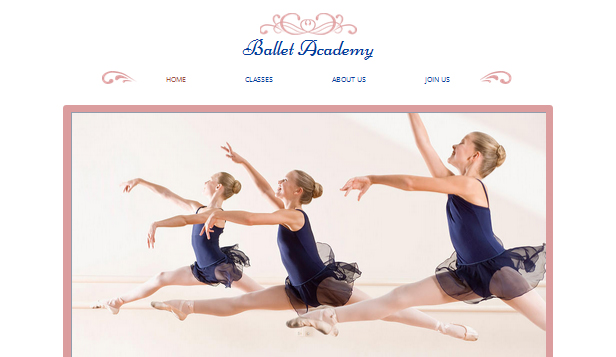 Locaties website templates – Balletstudio