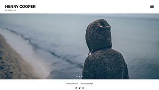 Travel & Documentary website templates - Photography Portfolio