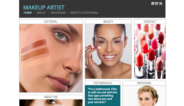 Make-up en cosmetica website templates – Visagisten