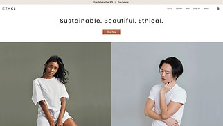 Online Store website templates - Sustainable Clothing Brand