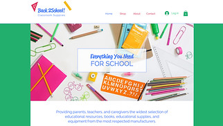 Kids & Babies website templates - School Supplies