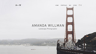Photography website templates - Landscape Photographer
