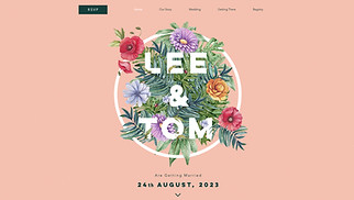 Events website templates - Floral Wedding Invitation