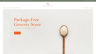 Food & Drinks website templates - Zero Waste Store