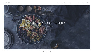 Photography website templates - Food Photographer
