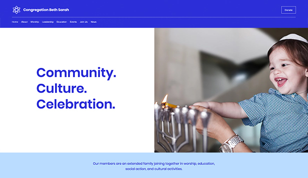 Religion website templates – Synagoge