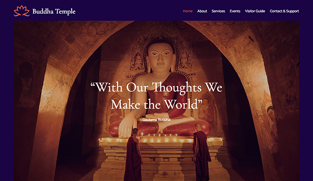 Religion website templates – Buddhistischer Tempel