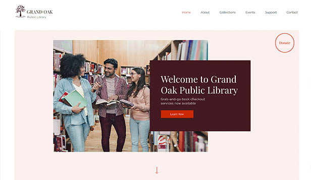 Novinky website templates – Library