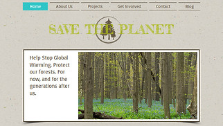 Non-Profit website templates - Nature Org