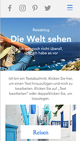 Lifestyle website templates – Blog eines Reisenden