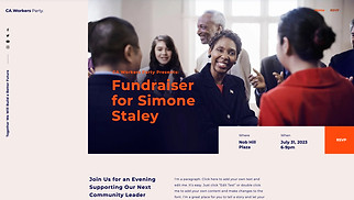 Events website templates - Political Fundraiser