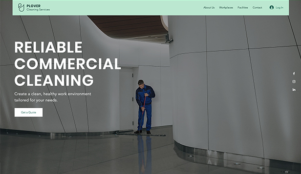 Tüm Şablonları Gör website templates – Commercial Cleaning Service