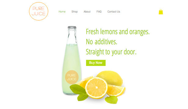 Restaurant og mat website templates –  Nypresset juice