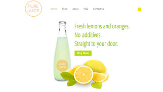 Food & Drinks website templates -  Fresh Juices