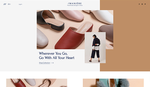 Mode website templates – Schuhmarke