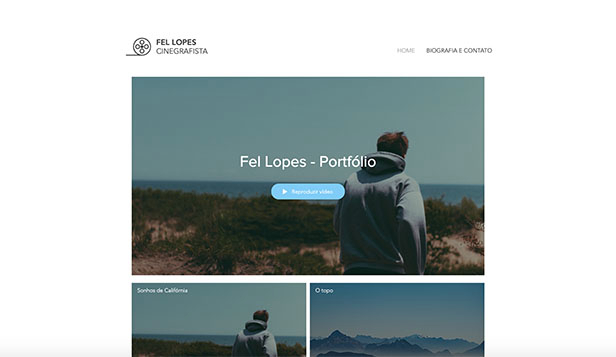 Vídeo website templates – Cinegrafista