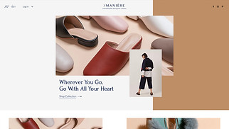 Online Store website templates - Shoe Store