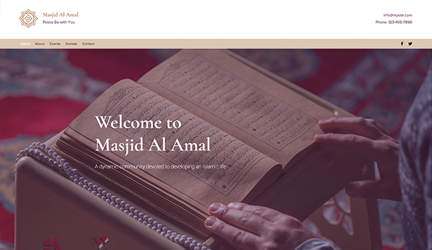 Religion website templates – Moschee
