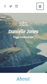 Gezondheid en wellness website templates – Yoga-instructeur