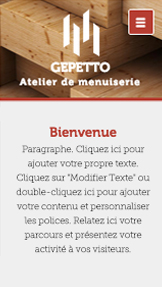 Travaux et Rénovations website templates – Atelier de Menuiserie