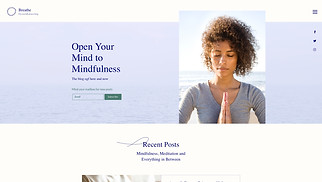 Health website templates - Mindfulness Blog