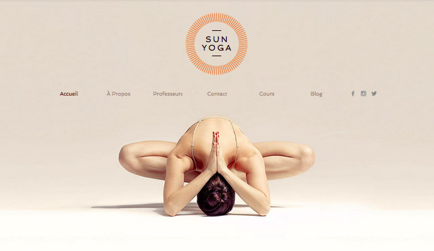 Sport et fitness website templates – Studio de Yoga