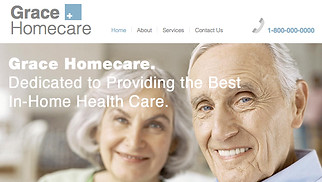 Health website templates - Home Healthcare