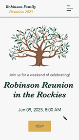 Feestdagen en vieringen website templates – Family Reunion