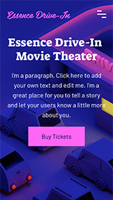 Veranstaltungsorte website templates – Drive-In Movie Theater