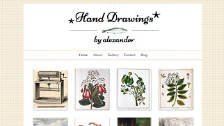 Creative Arts website templates - Artist Corner