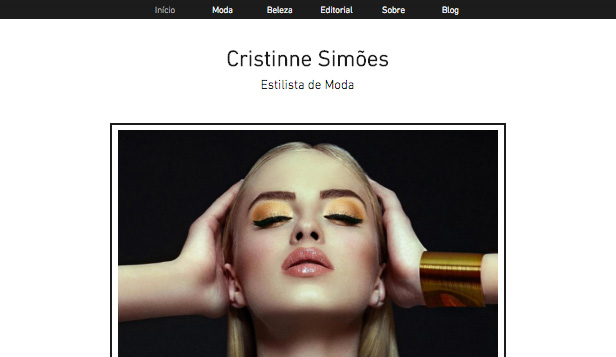 Moda website templates – Estilista de Moda
