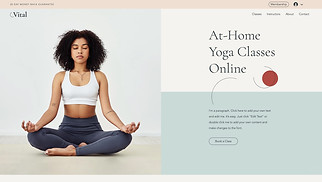 All website templates - Virtual Yoga Classes