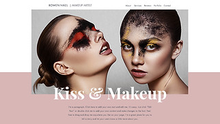 Beauty & Hair website templates - The Makeup Artist