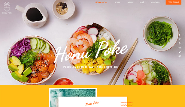 Restaurante website templates – Delivery de Poke