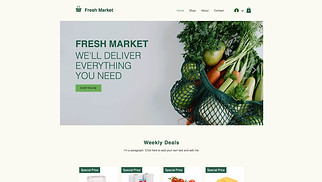 Online Store website templates - Online Grocery Store