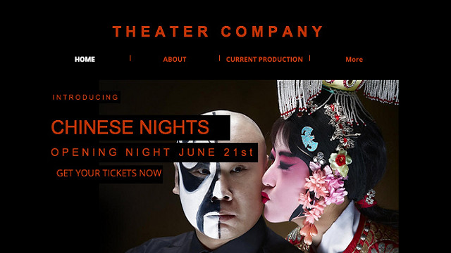 Creative Arts website templates - Theater Plays