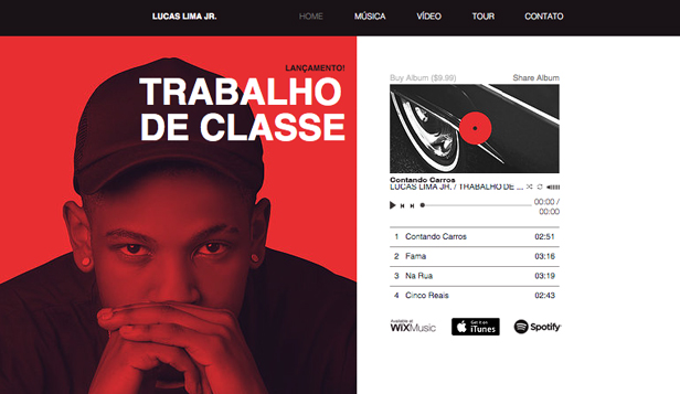 DJ e Produtor website templates – Artista de Rap