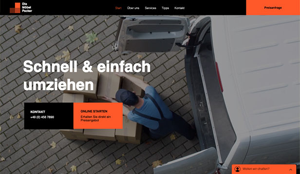 Alle website templates – Moving and Storage Service