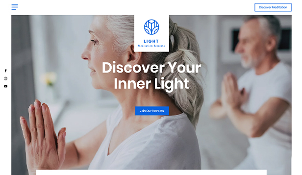 Salute e benessere template – Meditation Retreat