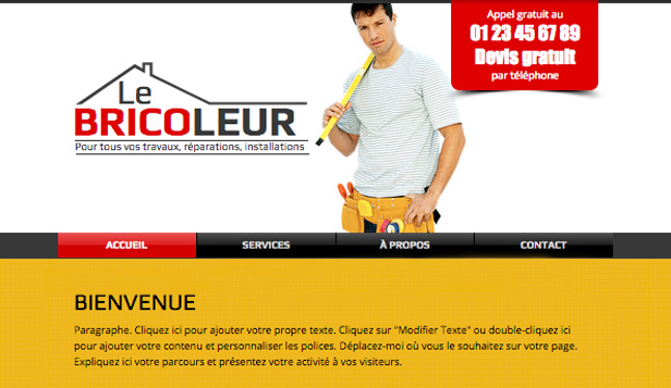 Travaux et Rénovations website templates – Bricoleur